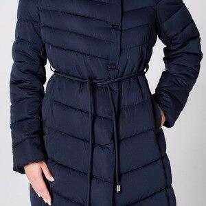 Image 5 - ASLTW Vrouwen Winter Jas Nieuwe Casual Mode Vrouwen Hoge kwaliteit Parka Jas Lange Met Capuchon Riem Merk Plus Size 4XL warme Jassen