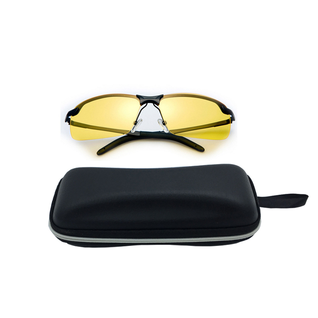 adca166dd043f Men s Night Vision Glasses for Driving Shooting Anti-Clip Sunglasses  Eyeglass with Yellow Lens