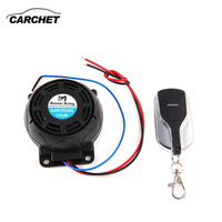 CARCHET Motorcycle Moto Alarm Anti Theft Security System Warning Lock Motorbike Burglar Alarm Dual Remote Control