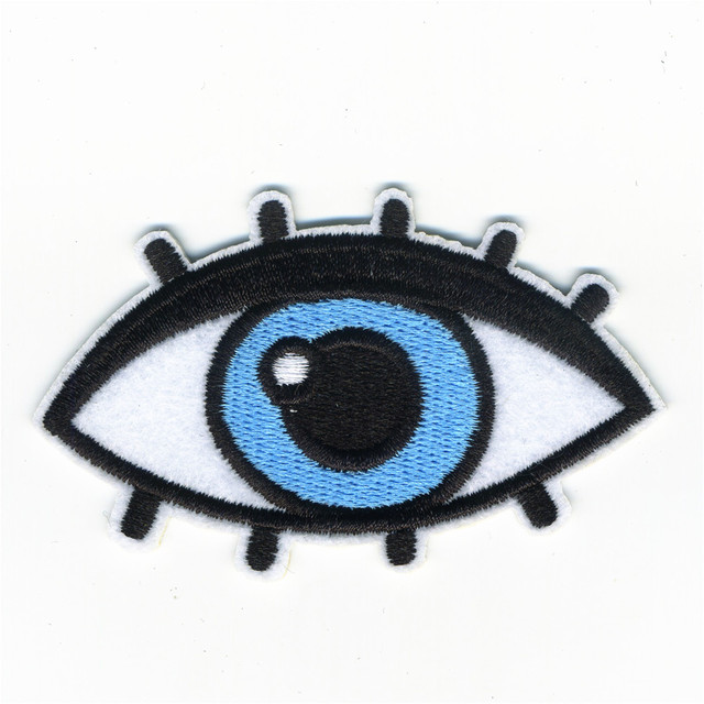 The Girl Woman Beautiful Eyes Patches Iron On Embroidered Patch For Clothing Stick On Badge Paste For Clothes Sew On Bag Pants