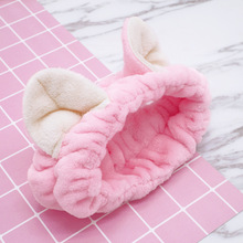 Lovely Hair Accessories for Women Girls Cute Cat Ears Headbands Thick Flannel Wash Face Makecup Bands Soft Bath