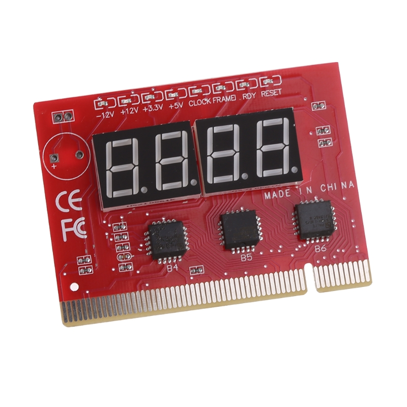 New Computer PCI POST Card Motherboard LED 4-Digit Diagnostic Test PC Analyzer