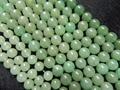 Envío gratuito ( 5 hilos / porción ) 6 mm aventurina verde liso de los granos del jade