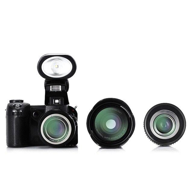 POLOSHARPSHOTS D7200 HD Camera 16MP 3.0″ 1080P HD camcorder 24X optical zoom telephoto Wide Angle Lens Professional camera video