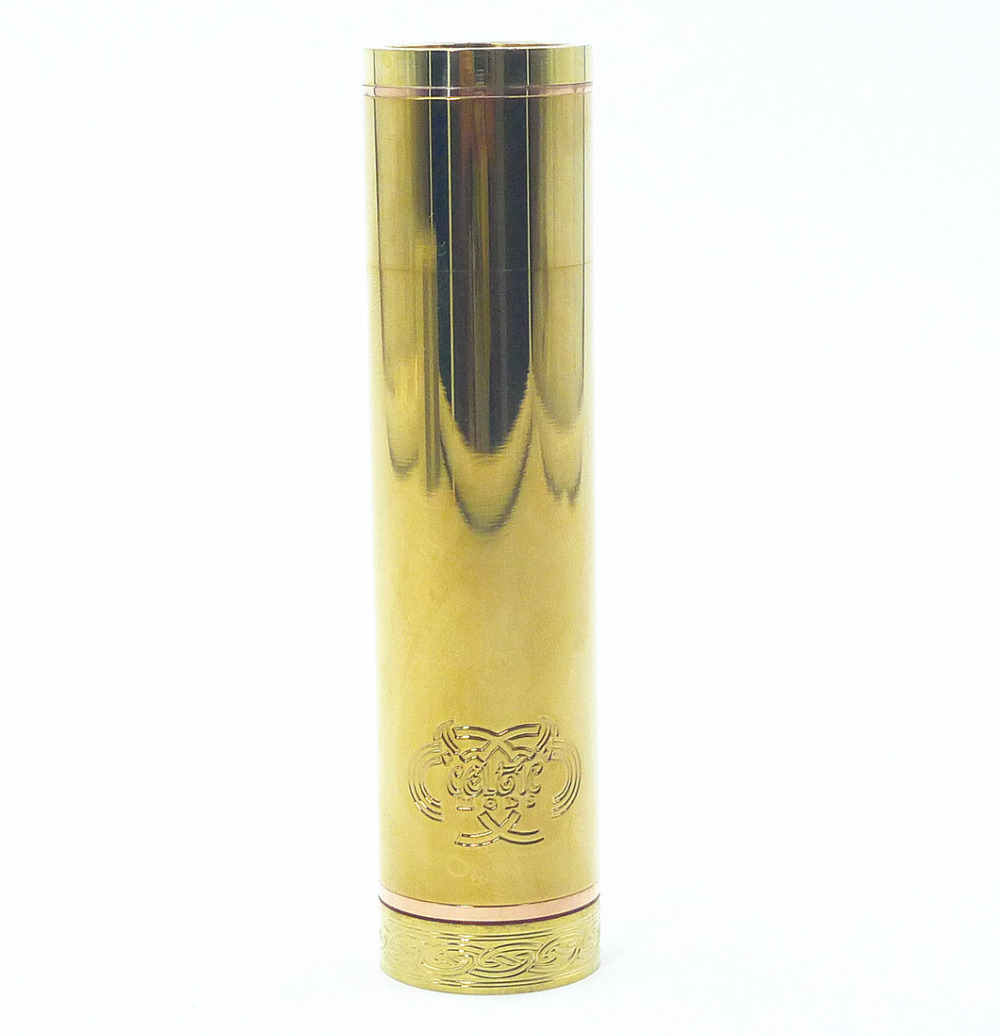 Brass Slojo Mechanical Mech Mod 18500/18650 Battery Body Vaporizer Vapor Vape Mod