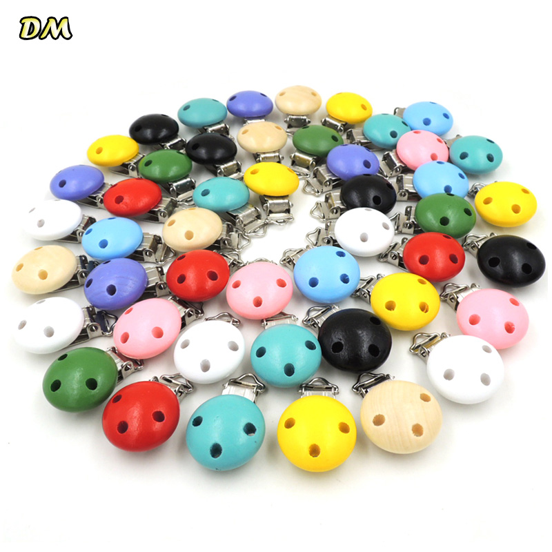 10pcs/lot Wooden Baby Children Pacifier Holder Clip Infant Cute Round Nipple Clasps For Baby Product10pcs/lot Wooden Baby Children Pacifier Holder Clip Infant Cute Round Nipple Clasps For Baby Product