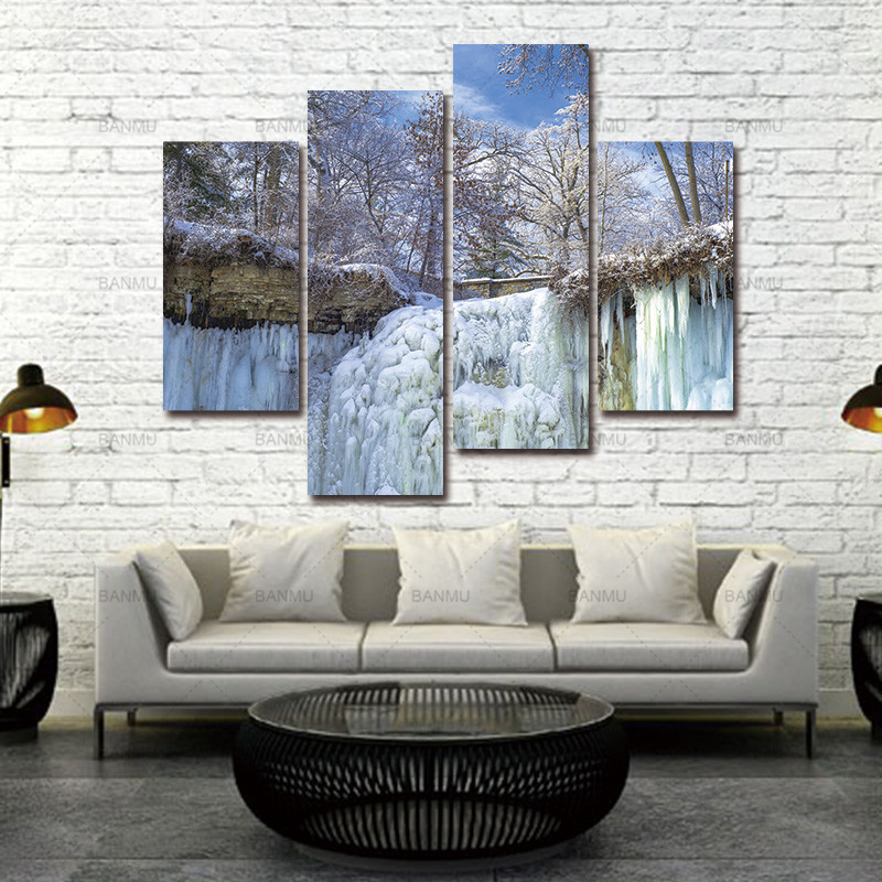Aliexpress.com : Buy Wall Art Decor Poster canvas Painting 4 Pieces ...