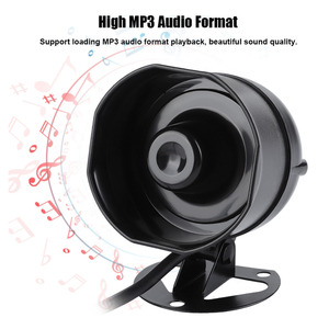 Image 2 - Electronic Sound Horn Loud Speaker Truck Warehouse Alarm Siren Support MP3 Playback SD Card IP65 Level Protection