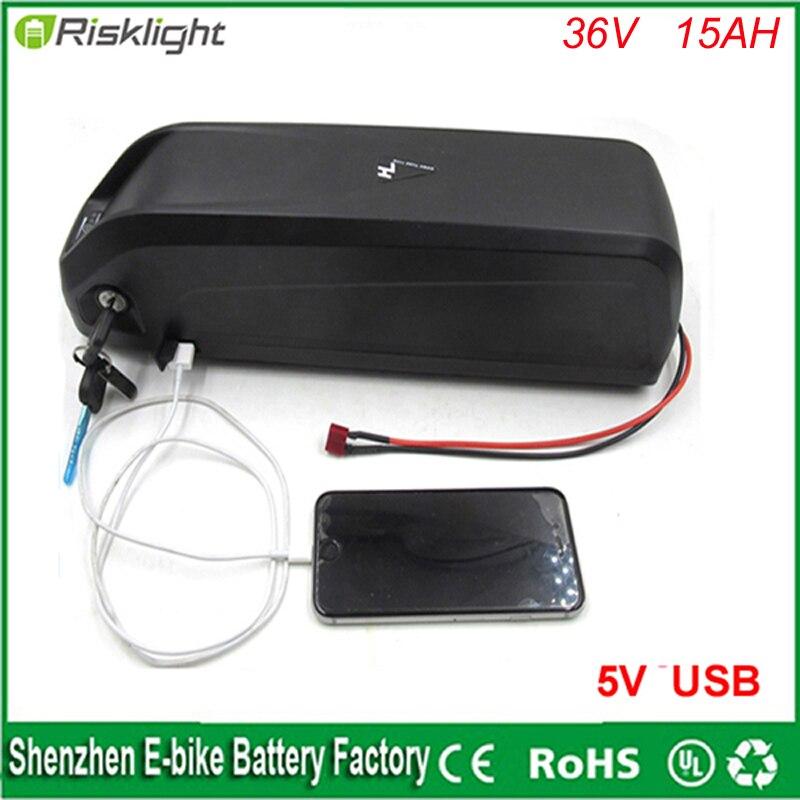 Хайлун 36 В Ebike аккумулятор с usb порт 36 В <font><b>15ah</b></font> 500 Вт Электрический аккумулятор велосипедов с Зарядное устройство и bms Fit 36 В Бафане двигателя