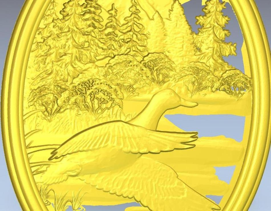 Cnc Panno_duck_1 In STL File Format 3d Model  Relief For