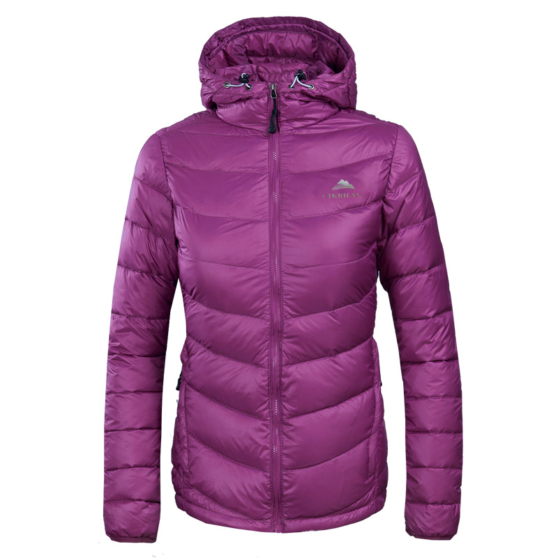 2017 New Womens Hood Down Jacket Outerwear Clothes 80% Duck Down ...