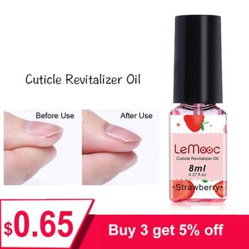 LEMOOC 8ML Fruit Smell Nail Cuticle Oil Care Finger Nourishing Liquid Nail Repair Moisturizing Armor Nutrition Nail Oil Cuticel