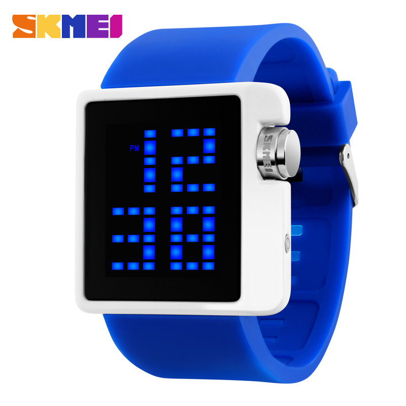 SKMEI Brand Lovers Fashion Casual LED Digital Watch Men Dive 50M Silicone Band Sports Watches Women Dress Wristwatches