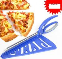 Big Size 33CM Stainless Steel Pizza Scissors Pizza Cutter With Stand Non Stick Soft Rubber Handle