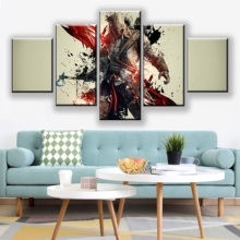 Canvas Paintings Assassins Creed Connor Multiple War Wall Art Framework Home Decor 5 Pieces Print Decorative Picture Living Room