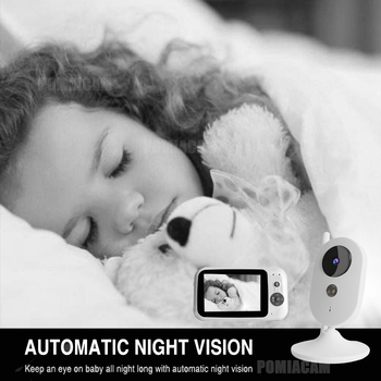 303A baby monitor 3.2 inch Wireless Video Color Baby Monitor nice Baby Nanny Security Camera Night Vision music 4