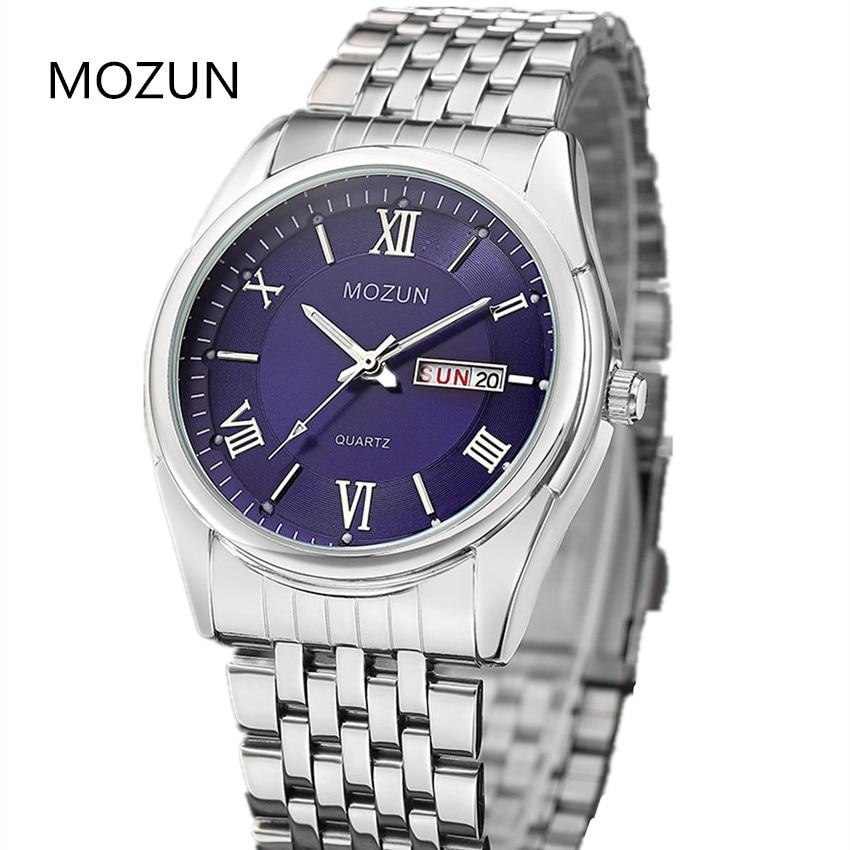 Naujas laikrodis Vyriški laikrodžiai Dual Date Quartz Vyriški - Vyriški laikrodžiai - Nuotrauka 2