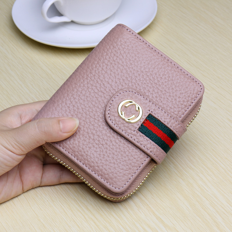 Small Short Lovely Lady Purse Multifunctional Korean Style Wallet For Credit Cards and Cash