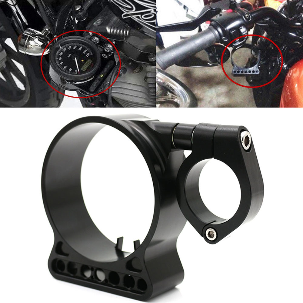 Motorcycle Black CNC Speedometer Side Mount Cover Instrument Bracket Case Housing For HARLEY SPORTSTER 883 1200 XL 1995 - 2014