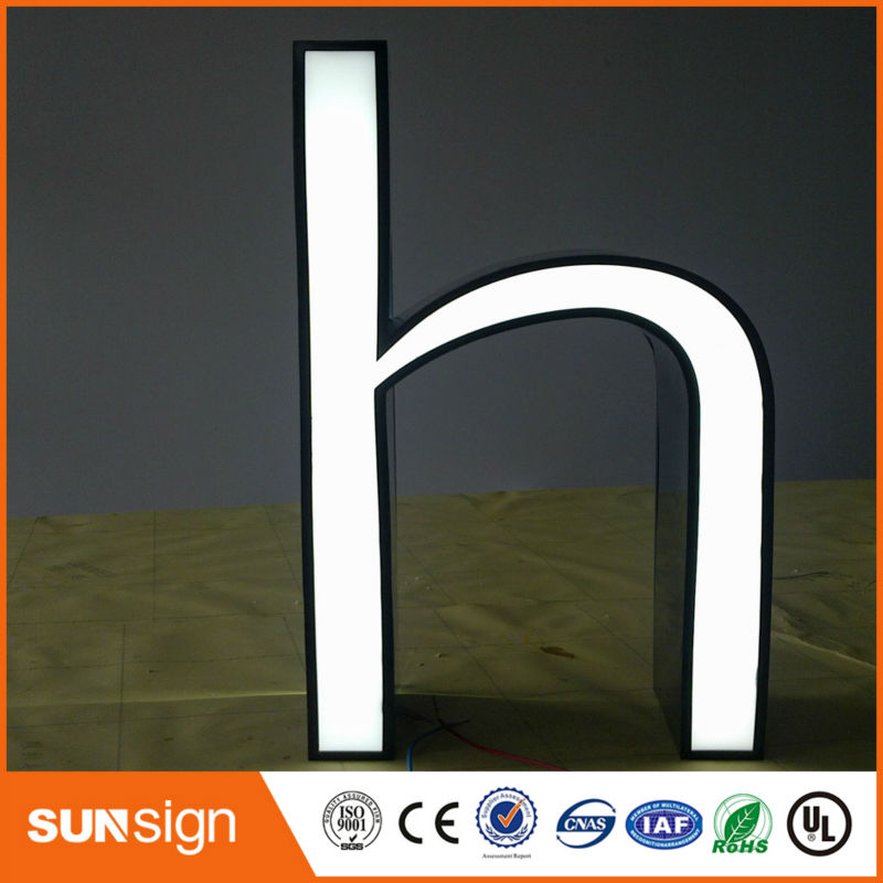 Custom Super Bright Advertising Illuminated Letters Fontlit Letters