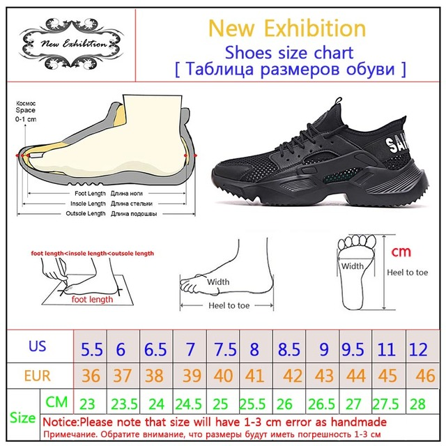 New exhibition Work Safety Shoes 2019 fashion sneakers Ultra-light soft bottom Men Breathable Anti-smashing Steel Toe Work Boots 5