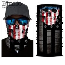 Bjmoto Cool Joker Skull Magic Head Face Mask Multi Wear Tube Biker Motorcycle Cycling Neck Scarf Bandana Ski Headband bjmoto cool skeleton skull motorcycle ski headband sport outdoor neck face mask mtb racing cycling windproof scarf balaclava