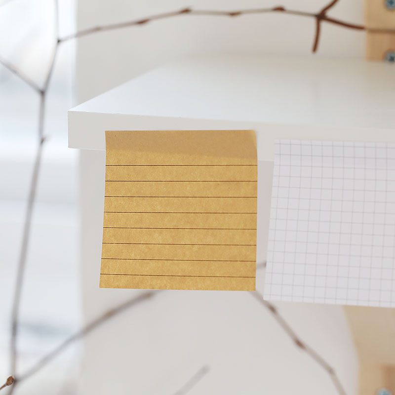 Kraft Paper Horizontal Line Note Little Book Can Tear Away Messages Notes Post Kawaii Sticky Notes Cute Stationary