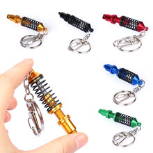 Universal Adjustable Alloy Car Interior Suspension Keychain Coilover Spring Car Tuning Part Shock Absorber Keyring Gift(China)