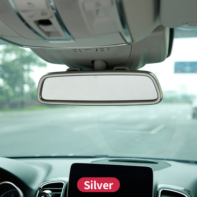 For Mercedes Benz GLE W166 350d  GL X166 GLS amg  ml350  2012 Class Interior Rearview mirror decorative frame cover trim  strip|Automotive Interior Stickers|   - title=