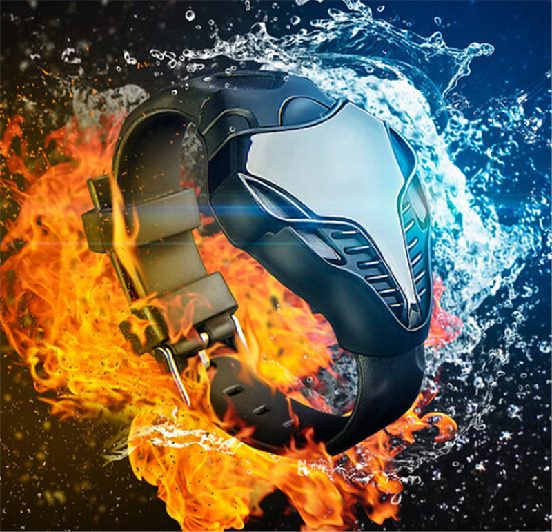 Luxe merk LED militaire horloge Datumweergave Snakehead vorm Sport - Herenhorloges - Foto 3