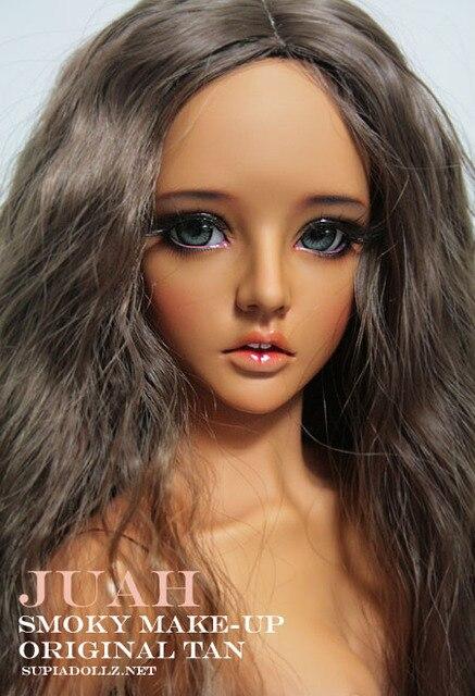 Supiadoll Juah BJD boneca resina figuras de brinquedo 1/3 boneca Tan pele
