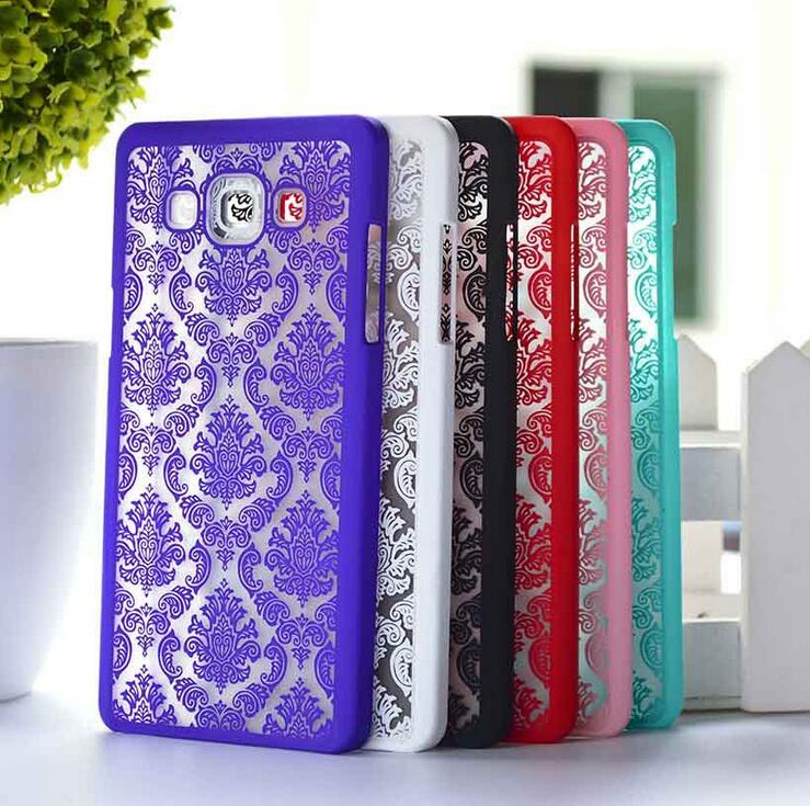 2015 Version Phone Cases For Samsung Galaxy A3 A300F A5 A7 2015 Retro Damask Pattern Engraved Matte Back Case Cover Skin Shell
