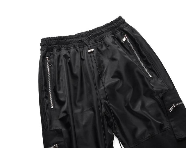 Hi Street men black military pockets track pants jog cargo pants