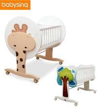 100  new zealand pine cartoon newborn baby solid crib baby cradle crib rocking bed bedding buy wooden crib and get free shipping on aliexpress    rh   aliexpress