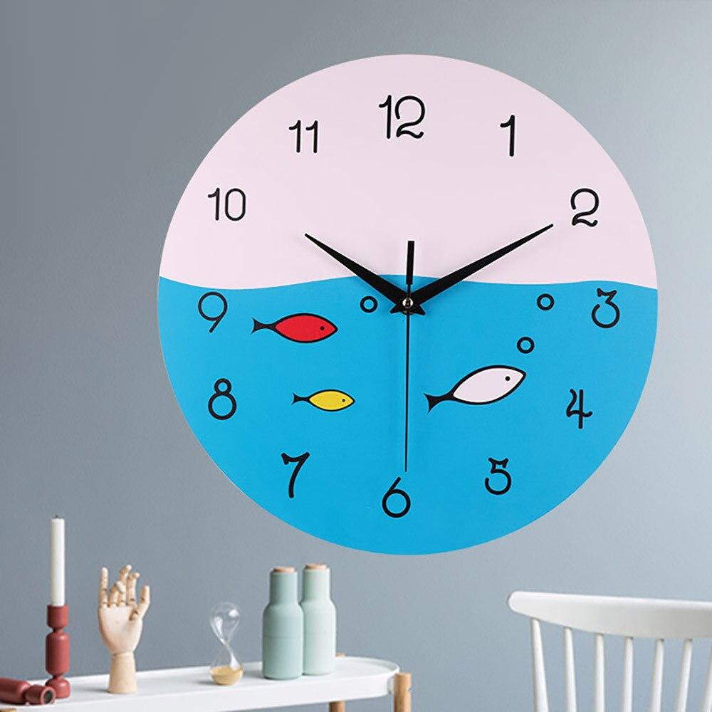 Vintage Artist Design Wall Clock Diy Living Room Wall Clock Children Kids  Room Clock Home Decor Fashion Gift 2018 New#15 In Wall Clocks From Home U0026  Garden ...