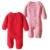 Trajes de Ganchillo recién nacido Baby Girl Boy Fleece Mameluco Del Niño Del Mameluco Del Bebé del Color Sólido de Punto de Navidad Caliente Espesa Invierno Jumpsuit