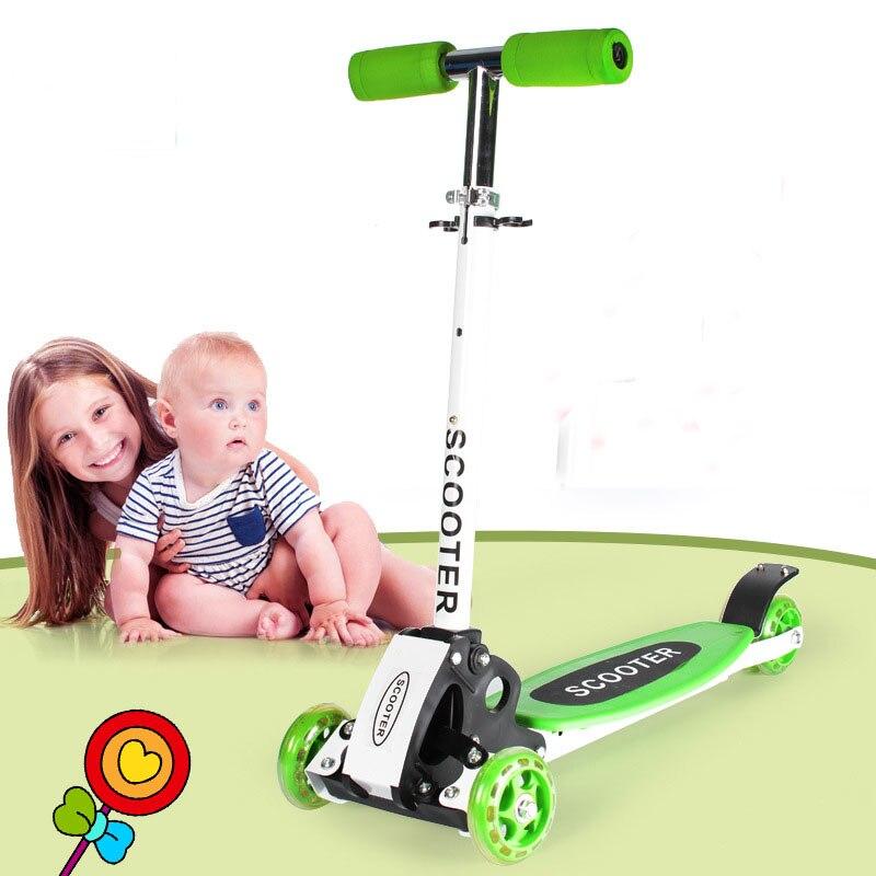 2019 pliant enfants enfant baie flash scooters voiture bébé marcheur voiture enfants hauteur réglable planche à roulettes dérive voiture luge - 2