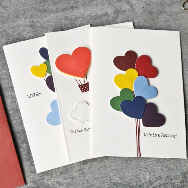 Creative Love Cards Balloon Design Diy Message Little Birthday Wishes Prayer Festival Parties