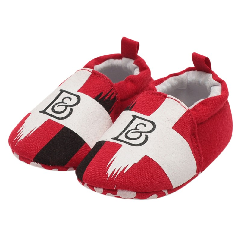2018 New Baby Toddler Shoes Baby Boy Girl Two-tone Graffiti Soft bottom Casual shoes Pedal Lazy The First Walker