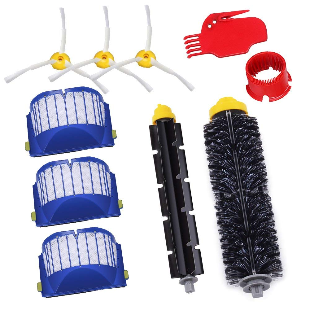 Parts for iRobot Roomba 595 620 630 645 650 655 660 Vacuum Bristle Kit 10Pcs 600 Series Replacement Brushes Accessories N30C
