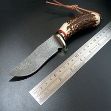 Efeng Custom 100% Damascus Handmade Forged Hunting Knife Very sharp model 2 camping knife hunting tactical straight knife