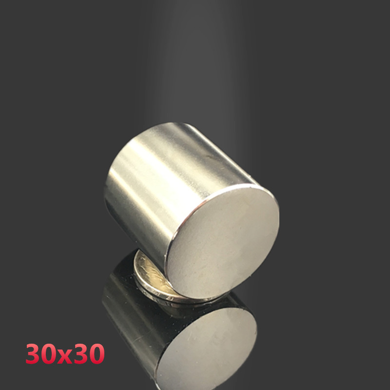цена на 1pcs 30*30 mm super powerful  Dia 30mm x 30mm neodymium magnet 30x30 disc magnet rare earth NdFeB N35 magnets