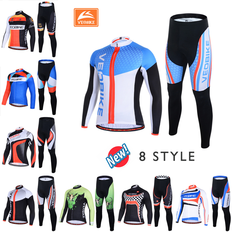 Veobike Cycling jersey ciclismo 2017 pro team 8 Style Men's Winter Long sleeve Bike Set Mtb Bicycle Wear Ropa Ciclismo Invierno veobike cycling jersey ciclismo 2017 pro team 8 style men s winter long sleeve bike set mtb bicycle wear ropa ciclismo invierno