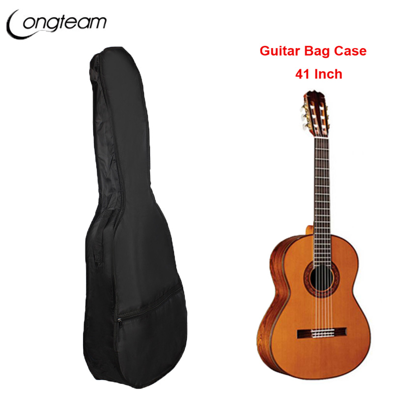 Waterproof Black Oxford Cloth 41Electric Acoustic Guitar Bag Case Bass Carry Shoulder Strap Musical Instrument Accessories