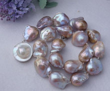 20x23mm purple Nucleated Flameball pearl Necklace -mabe clasp NEW(China)