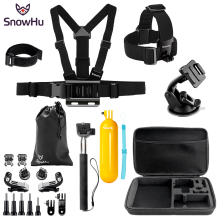 SnowHu For Sport camera accessories set mount tripod for go pro hero 7 5 4 sjcam for Go pro 5 kit for xiaomi yi 4K camera  SH88V