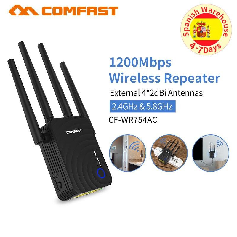 Alta Potência de 1200 Ghz Wi-fi Sem Fio Comfast 300mbps Dual Band 2.4 + 5 Router Wi-fi Repetidor Extensor Wi-fi de Longo Alcance wlan Wi-fi Amplificador