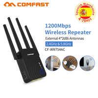 Alta Potencia 1200Mbps Comfast banda Dual 2,4 + 5 Ghz Router Wifi inalámbrico repetidor Wifi amplificador de Wifi de largo alcance Wlan Wi-fi