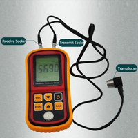 Gm100 Limited Coating Thickness Gauge Ultrasonic Wall Thickness Gauge Meter Tester Steel Pvc Digital Testing