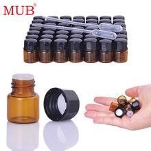 MUB - 20PCS/lot Amber Glass Essential Oils Bottles Mini Refillable Bottle Sample Travel Perfume Makeup Tools Accessories